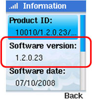check software version